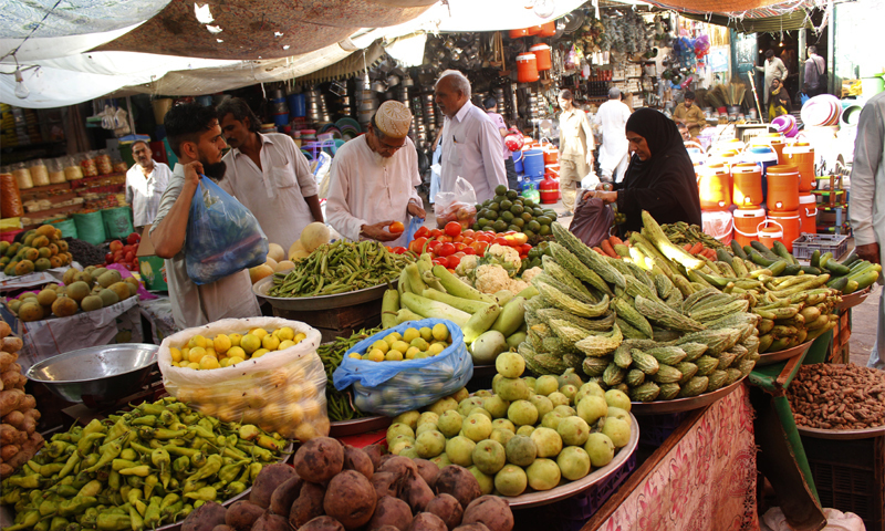 Food items in market