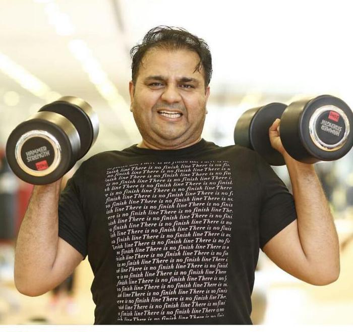 Minister of Information Fawad Chaudhry and fitness routine