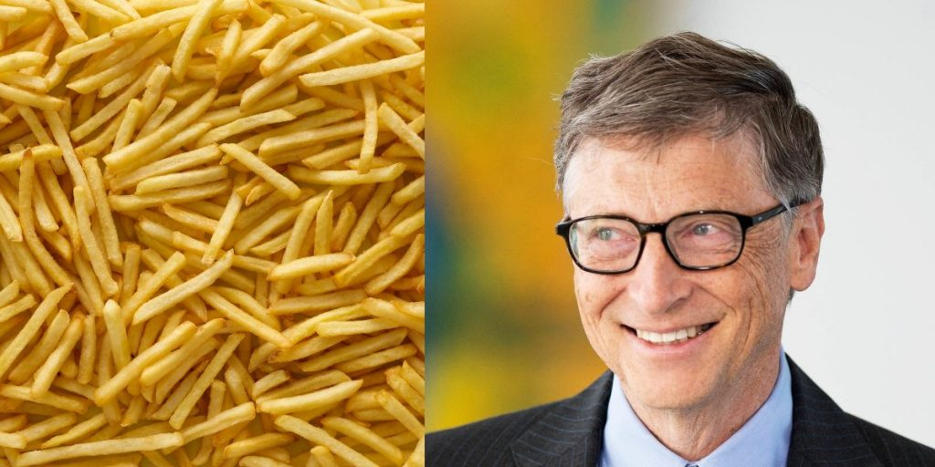 Potatoes for McDonald's fries are grown on Bill Gates' farms in vast fields visible from space
