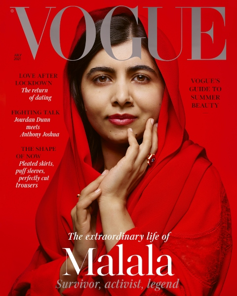 Malala vogue and interview on Malala on love