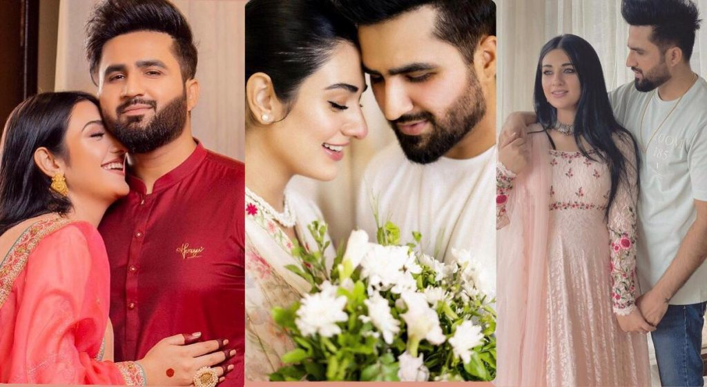 Celebrity couple of Sarah Khan and Falak Shabir took to Instagram to share their moments on Eid-ul-Azha with their fans.